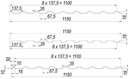 1 схема мп20(6)  Профнастил МП-20 1 shema mp206